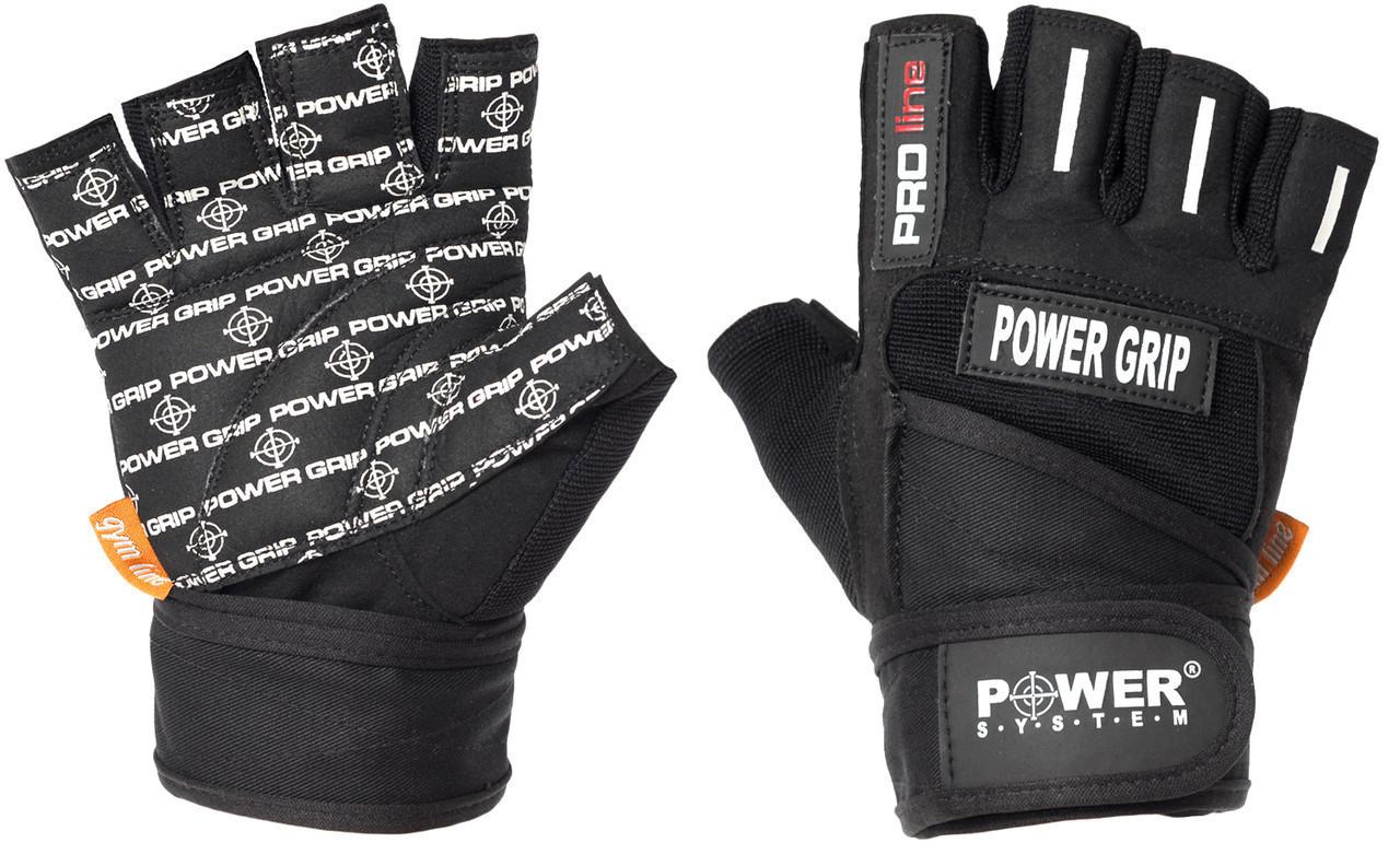 Перчатки для фитнеса и тяжелой атлетики Power System Power Grip PS-2800 XXL Black