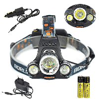 Мощный налобный LED фонарь BL 3000  | фонарик налобный