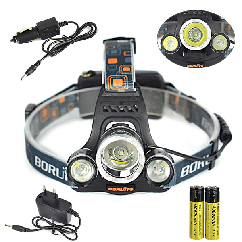 Фонарь налобный LED светильник BL 3000  | фонарик налобный