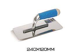 Трапецевидный шпатель из нержавеющей стали с закругленными краями Boldrini s.5580 240х120см