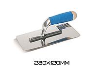 Трапецевидный шпатель из нержавеющей стали с закругленными краями Boldrini s.5580 280х120см