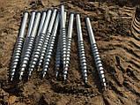 Геошуруп ПИЛЛАР - FH 76x3x3000 мм t 1050 мм горячеоцинкованная фундаментная свая, фото 3