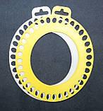 Органайзер для нити мулине, 36 мест на палитре, овальный. Размер 158х128 мм., фото 2