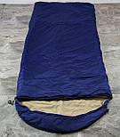 Туристический спальный мешок (до-2). Спальник туристический для похода весна и осень, фото 3