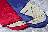 Туристический спальный мешок (до-2). Спальник туристический для похода весна и осень, фото 10