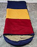 Туристический спальный мешок (до-2). Спальник туристический для похода весна и осень, фото 2