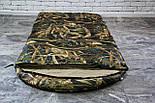 Широкий спальный мешок (камуфляжный спальник, до -2/+14, фото 3