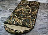 Широкий спальный мешок (камуфляжный спальник, до -2/+14, фото 4