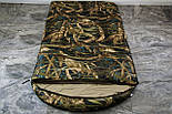 Широкий спальный мешок (камуфляжный спальник, до -2/+14, фото 5