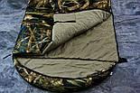 Широкий спальный мешок (камуфляжный спальник, до -2/+14, фото 6
