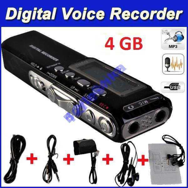 Цифровой Диктофон плейер флешка 4gB MP3 USB c 2ААА