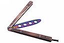 Фигурный балисонг, нож бабочка, тренировочное оружие для трюков (флипперов), хамелеон, филиппинский нож, фото 3