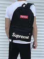 Мужской городской рюкзак черный в стиле Supreme, фото 1