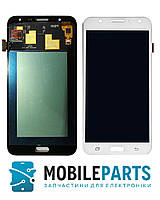 Дисплей для Samsung J700H | DS Galaxy J7|J700F | J700M с сенсорным стеклом Яркость не регулируется (Белый) TFT