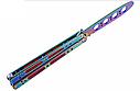 Балисонг хамелеон резной, нож бабочка, тренировочное оружие для трюков (флипперов), филиппинский нож, фото 2