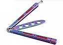 Балисонг хамелеон резной, нож бабочка, тренировочное оружие для трюков (флипперов), филиппинский нож, фото 3