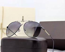 Мужские солнцезащитные очки с поляризацией в стиле Louis Vuitton (0906) silver