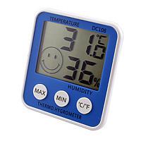 Портативный компактный цифровой термометр с гигрометром, питание от батарейки ААА