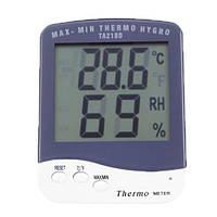 Комнатный термометр с гигрометром в детскую настольный питание от батарейки ААА