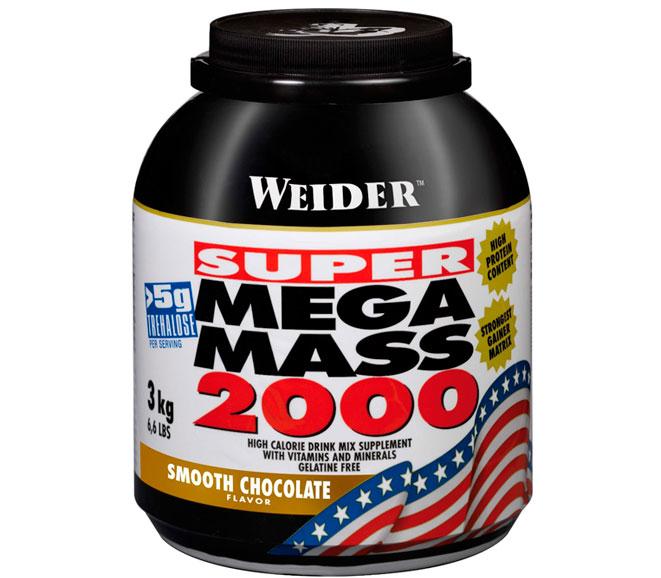 Гейнер для набора массы Weider Mega Mass 2000 (3 кг) вейдер мега масс smooth chocolate