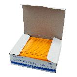 Карандаш графитовый Buromax JOBMAX HB, желтый, без резинки, фото 2