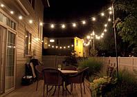 Гирлянда для кафе на улицу Belt Light 20хЕ27 13м белый IP65 Код.59596