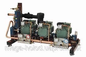 Холодильна компресорна станція на базі 3-х компресорів: 4CC-6.2y,  2010 р.в. з щитом управління.
