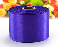 "Лента атласная 5см ширина (25 ярдов) ""LiaM"" Цена за рулон. Цвет - Фиолетовый"