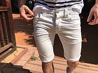 Шорты джинсовые мужские белые