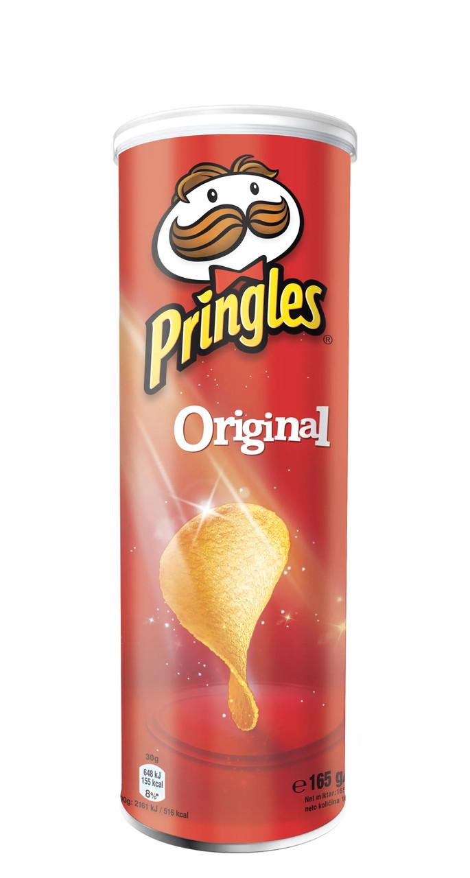 Чіпси Pringles Original, класичні, 165г, 19 шт/ящ
