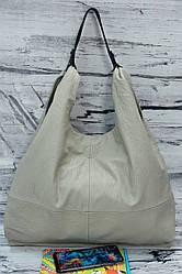 Двухсторонняя женская сумка-варенка 16024 cream