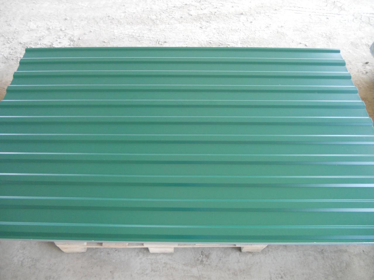 Профнастил 6005-зеленый, 950/1200 мм.