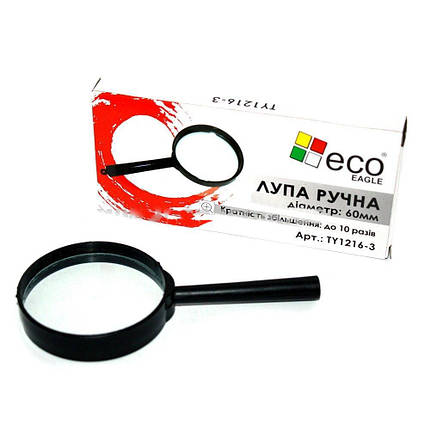 Лупа d=60 мм в пластиковой оправе Eco-Eagle TY1216-3, фото 2
