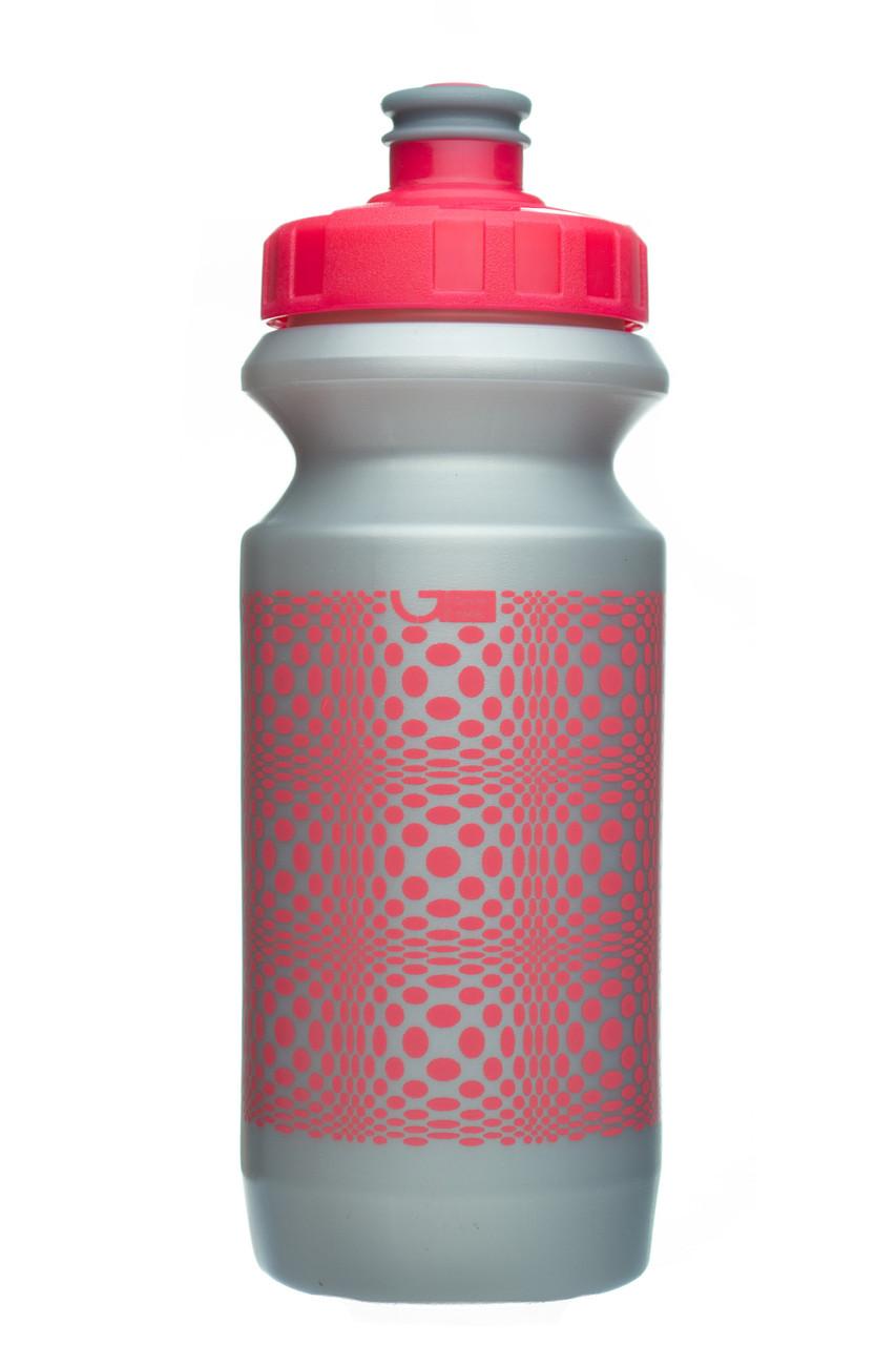 Велофляга Green Cycle DOT 0,6 silver nipple-pink