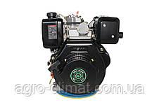 Двигатель дизельный GrunWelt GW186FВ (9,5 л.с., шпонка), фото 2