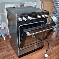 Кухонная плита электрическая Electrolux EKC 96430 AX — Б\У Духовка и печь с конвекцией и Грилем