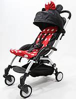 Самая удобная и легкая детская прогулочная коляска YOYA PREMIUM, b/Red Minnie