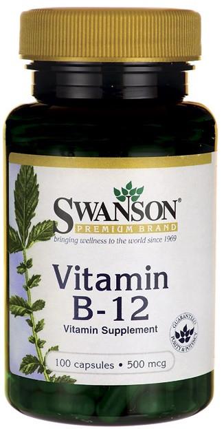 Витамин B12 Swanson Vitamin B-12 500mcg 100caps