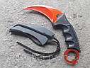Серповидный нож - керамбит Коготь Дракона, коготь тигра/ лапа петуха, тренировочный карамбит, отличный подарок, фото 2