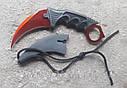 Серповидный нож - керамбит Коготь Дракона, коготь тигра/ лапа петуха, тренировочный карамбит, отличный подарок, фото 3