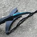 Серповидный нож - керамбит Хамелеон синий, тигра/ лапа петуха, тренировочный карамбит, отличный подарок, фото 2
