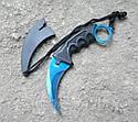 Серповидный нож - керамбит Хамелеон синий, тигра/ лапа петуха, тренировочный карамбит, отличный подарок, фото 3