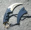 Серповидный нож - керамбит Золотой, тигра/ лапа петуха, тренировочный карамбит, отличный подарок, фото 2