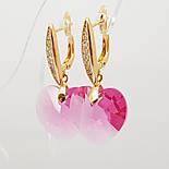 Красивые серьги с кристаллами Swarovski, xuping, фото 2