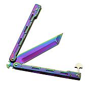 Балисонг хамелеон резной заточеный, нож бабочка, тренировочное оружие для трюков (флипперов), филиппинский нож