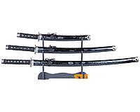 Японские катаны самурай, 3 ШТ: дайто, сёто, танто, точная копия, качественное лезвие + ножны