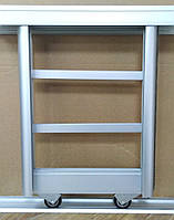 3 двери. Раздвижная система шкафа купе, комплект, серебро, фото 1