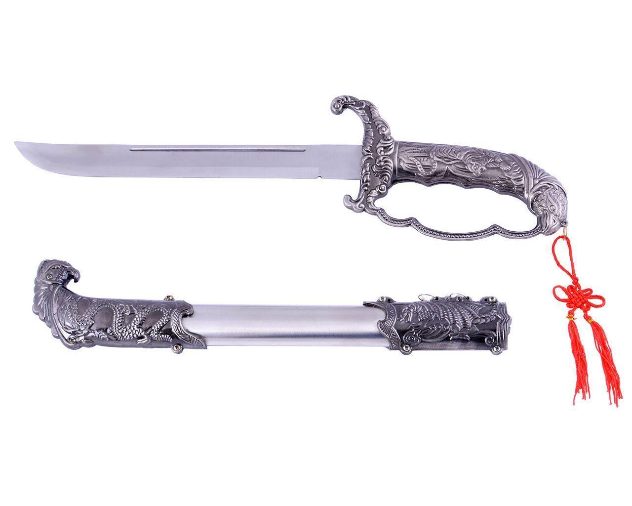 Сувенирное оружие сабля Уничтожитель чудовищ + ножны и рукоять резные отличное качество
