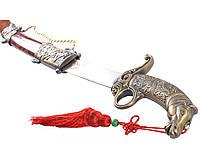 Сувенирное оружие сабля Мустанг + ножны с подвесом и рукоять с фигурой коня на подарок