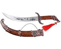 Сувенирное оружие сабля Индийская Тега + ножны с подвесом и рукоять с фигурой слона Индия на подарок
